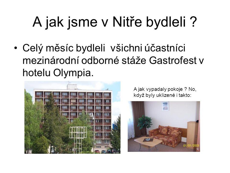 A jak jsme v Nitře bydleli .