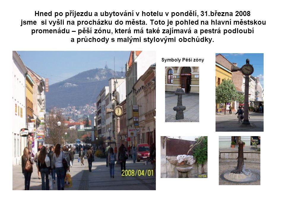 Hned po příjezdu a ubytování v hotelu v pondělí, 31.března 2008 jsme si vyšli na procházku do města.