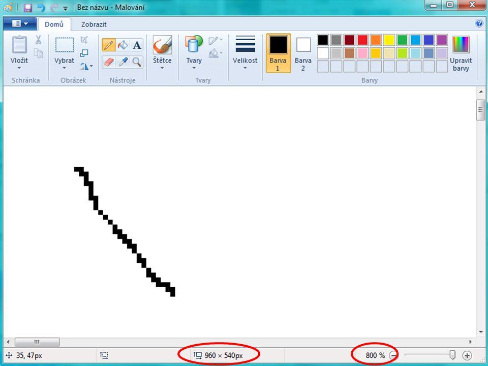 Bitmapová grafika neboli rastrová celý obrázek popsán pomocí jednoduchých barevných bodů (pixelů) –body jsou uspořádány do mřížky –každý bod má svou přesnou polohu a barvu 2