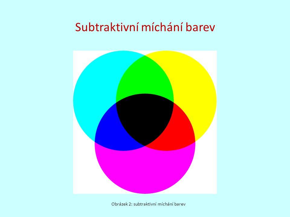 Subtraktivní míchání barev Obrázek 2: subtraktivní míchání barev