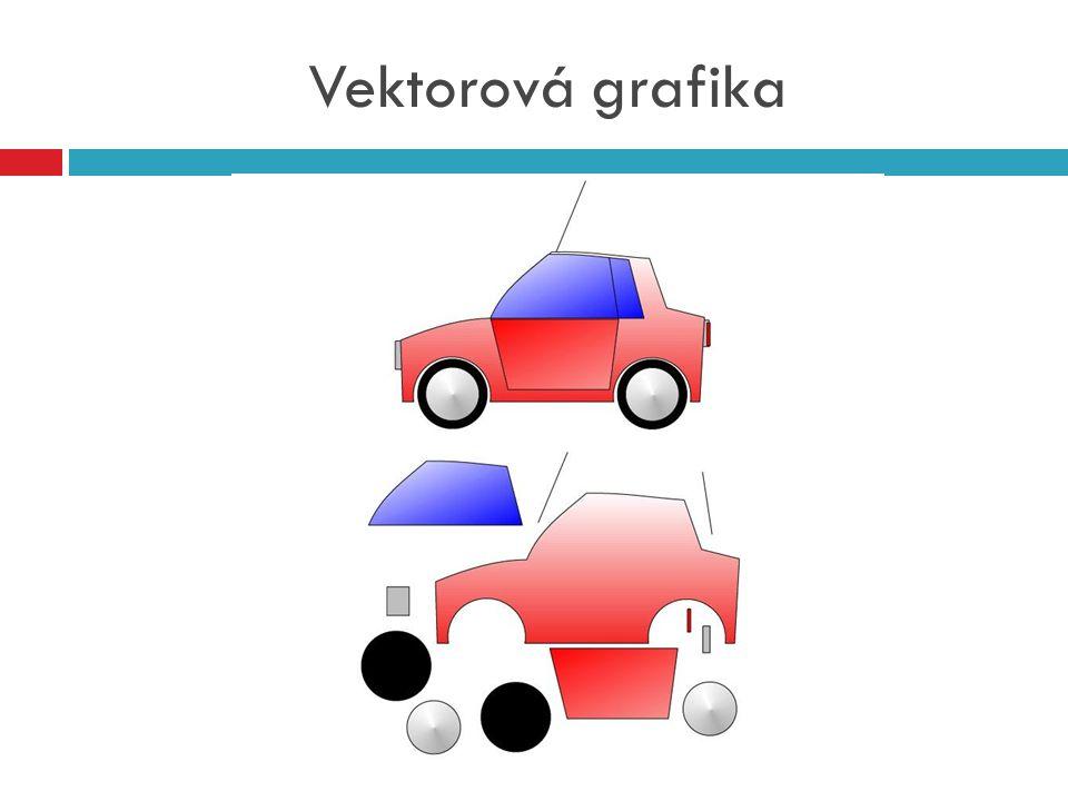 3D grafika  Speciální část počítačové grafiky, která pracuje s trojrozměrnými objekty  Převod 3D grafiky do 2D grafiky se nazývá jako renderování (tvorba reálného obrazu na základě počítačového modelu)  3D grafika se využívá pro tvorbu animací (film nebo počítačové hry), může se také využít ve vědě (počítačové simulace)