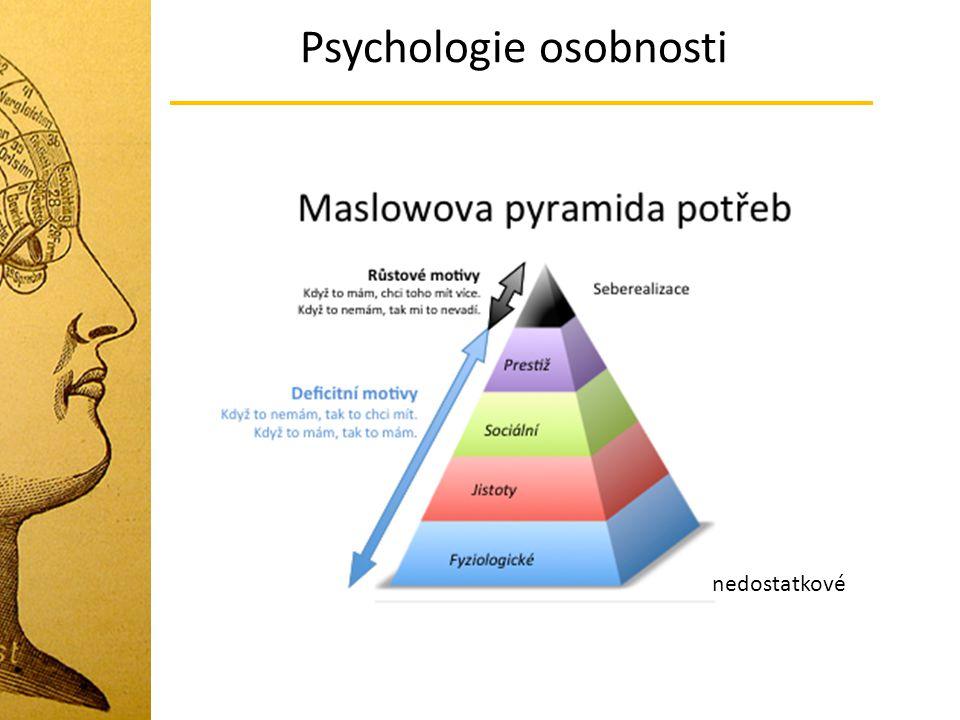 Psychologie osobnosti nedostatkové