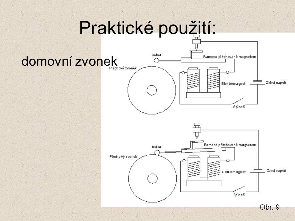 Praktické použití: domovní zvonek Obr. 9