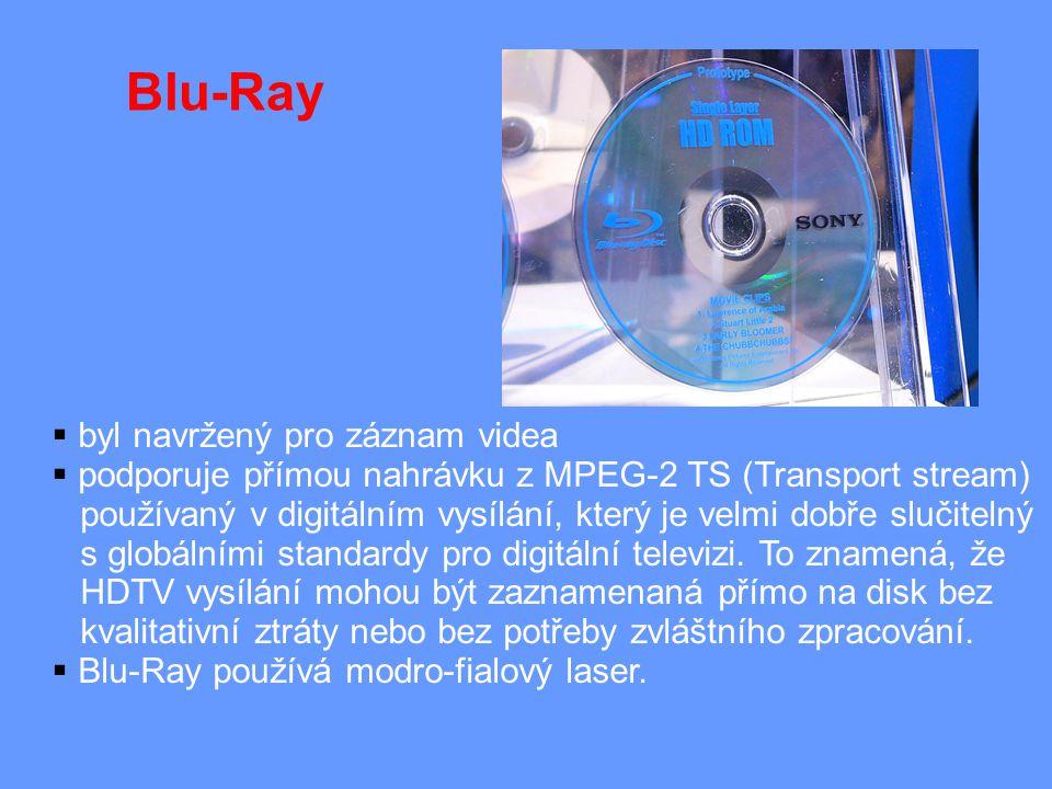  byl navržený pro záznam videa  podporuje přímou nahrávku z MPEG-2 TS (Transport stream) používaný v digitálním vysílání, který je velmi dobře slučitelný s globálními standardy pro digitální televizi.