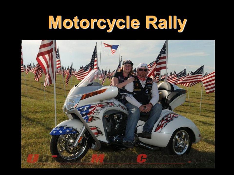 Motorcycle Rally Motorek, které fotíte, se nikdy nedotýkejte.