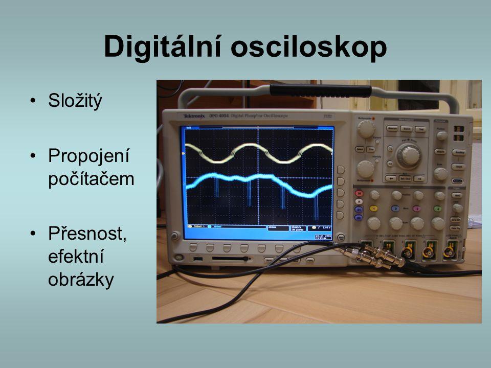 Digitální osciloskop Složitý Propojení počítačem Přesnost, efektní obrázky