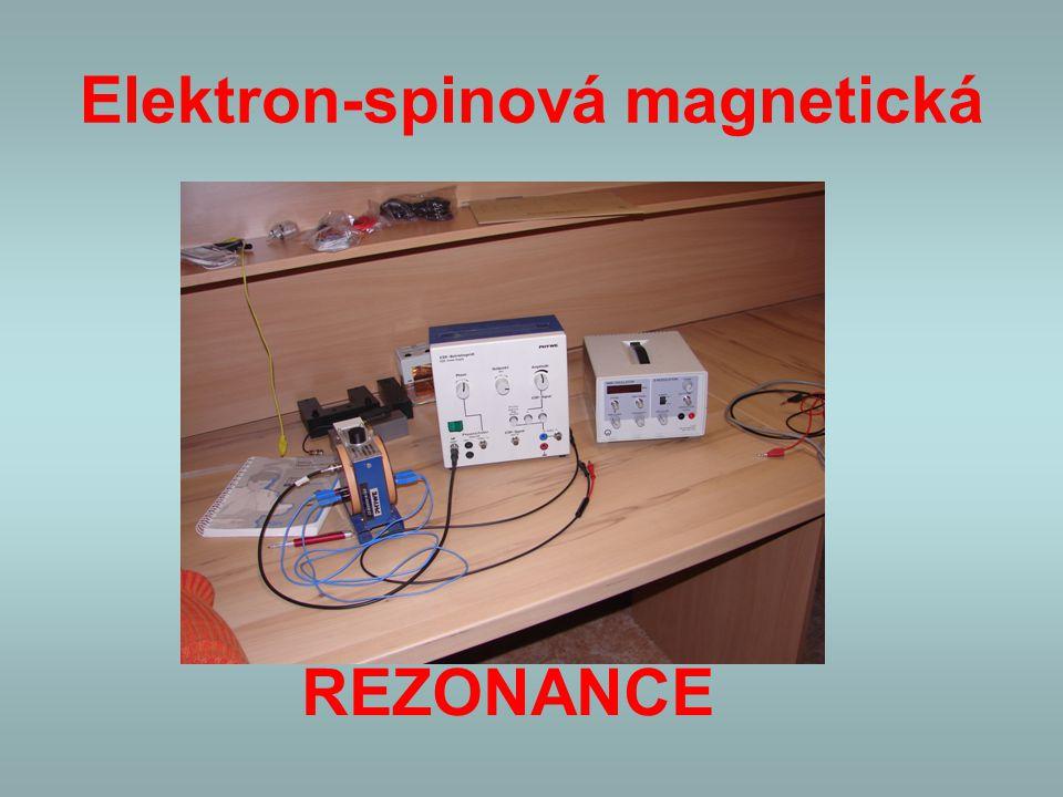 Elektron-spinová magnetická REZONANCE