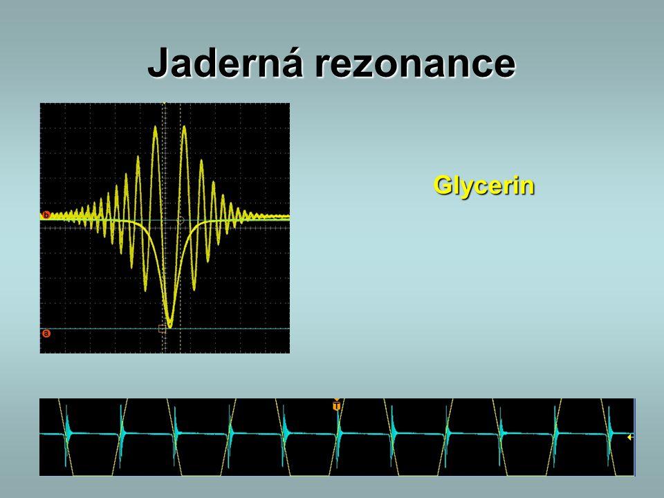 Jaderná rezonance Glycerin