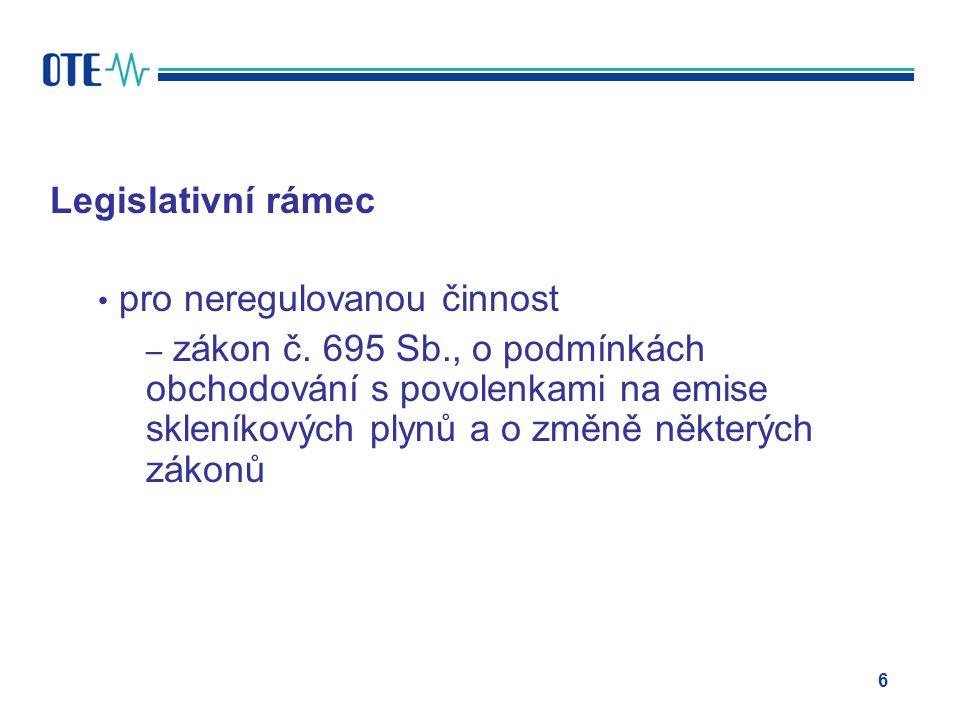 Legislativní rámec pro neregulovanou činnost – zákon č.