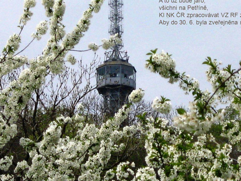 A to už bude jaro, všichni na Petříně, KI NK ČR zpracovávat VZ RF za celou ČR, Aby do 30.