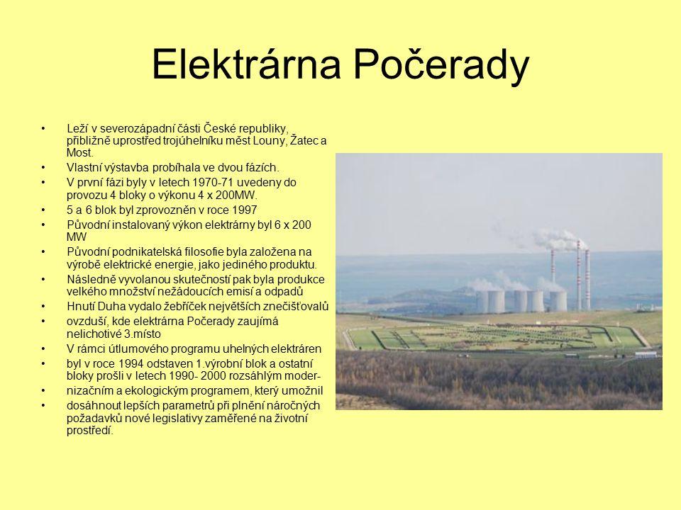 Elektrárna Počerady Leží v severozápadní části České republiky, přibližně uprostřed trojúhelníku měst Louny, Žatec a Most.