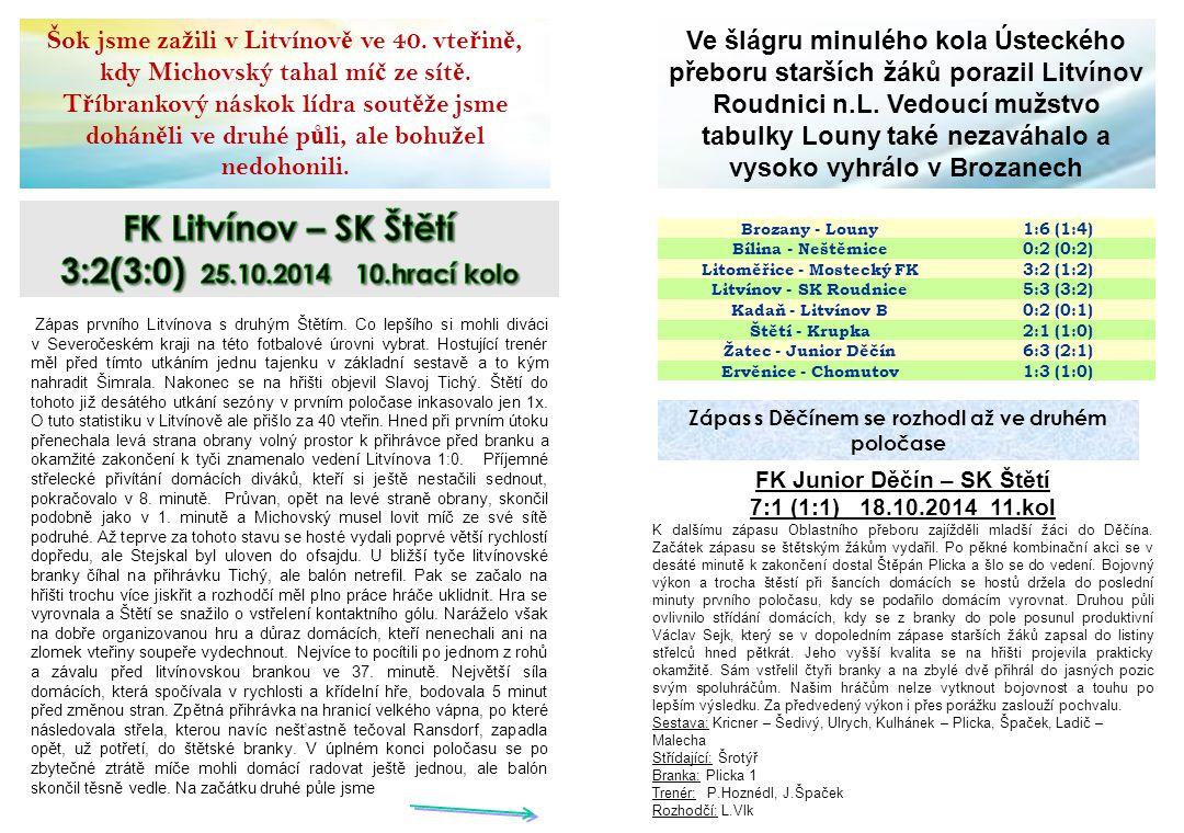 Sokol Hoštka – Sepap Štětí 1:5(1:3) 24.10.2014 4.