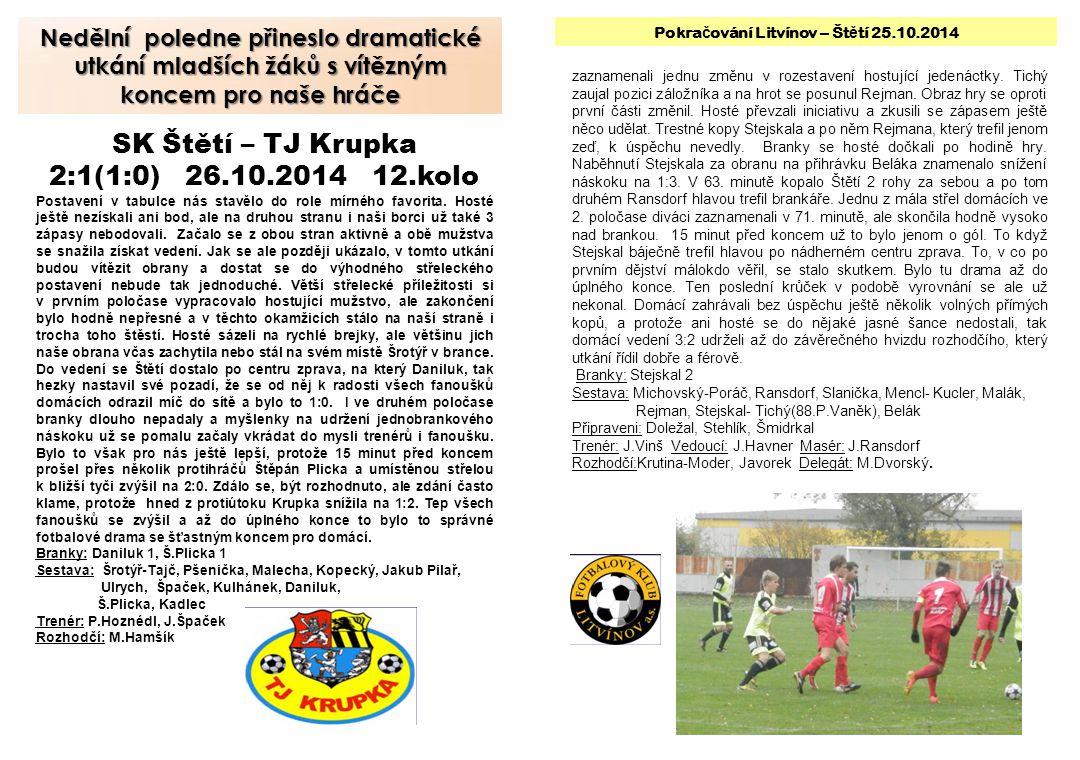 Mladší ž áci z posledních 3 zápas ů 1x vyhráli.