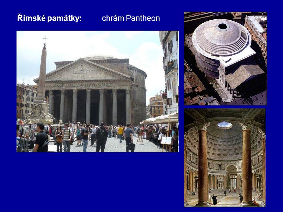 Římské památky:chrám Pantheon