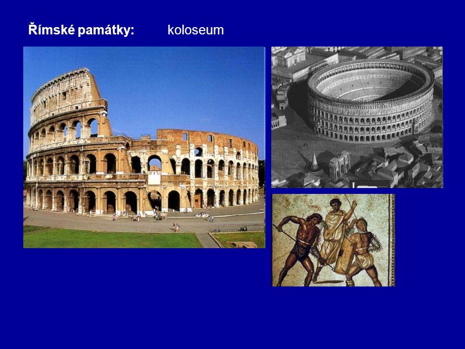 Římské památky:koloseum