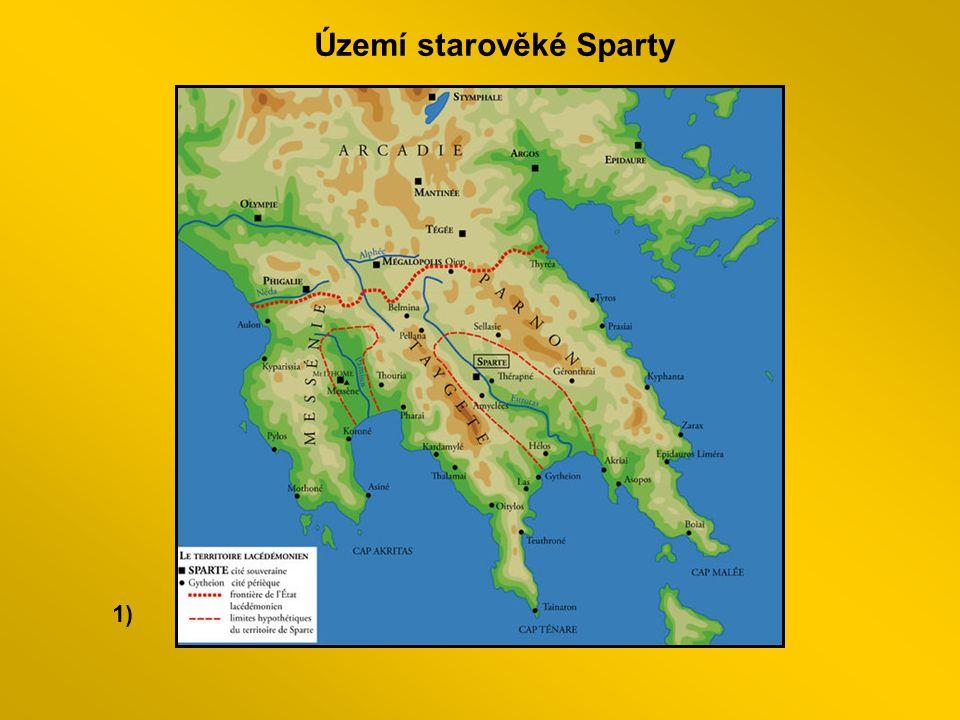 1) Území starověké Sparty