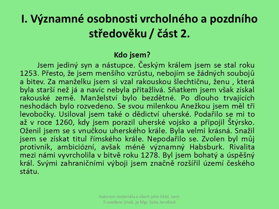 VII.Kdo jsem Jsem druhé dítě Václava II.
