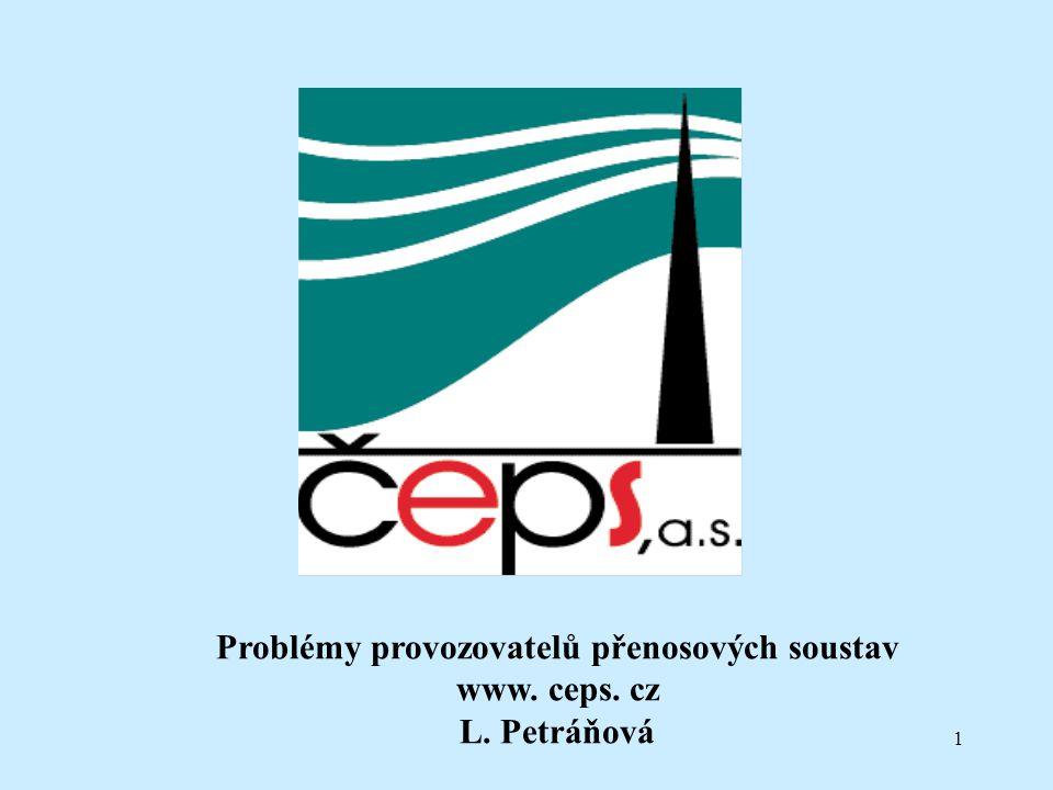 1 Problémy provozovatelů přenosových soustav www. ceps. cz L. Petráňová