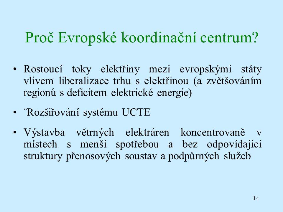 14 Proč Evropské koordinační centrum.