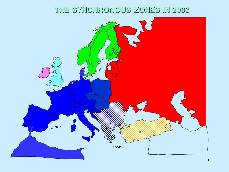 6 Soustava UCTE Jedna z největších a nejbezpečnějších synchronních zón:Jedna z největších a nejbezpečnějších synchronních zón: –24 propojených zemí –400 Millionů lidí – 2100TWh spotřeby