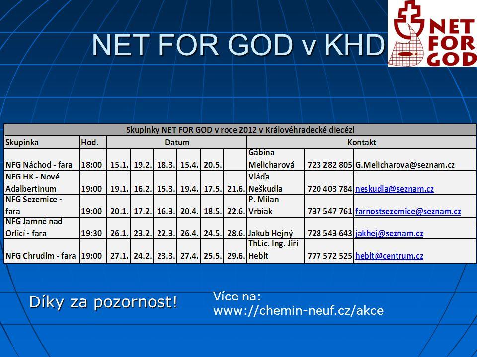 NET FOR GOD v KHD Díky za pozornost! Více na: www://chemin-neuf.cz/akce