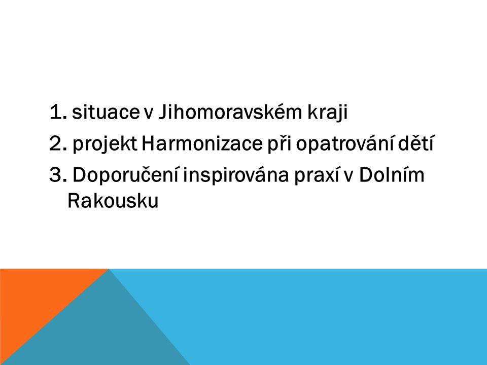 1. situace v Jihomoravském kraji 2. projekt Harmonizace při opatrování dětí 3.
