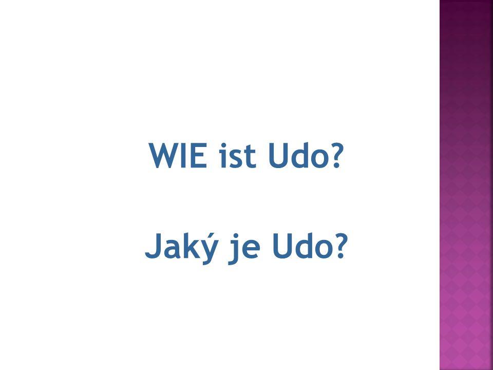 10.Udo ist faul. WIE ist Udo? Jaký je Udo?