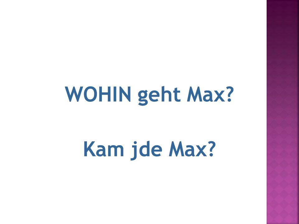 14.M WOHIN geht Max? Kam jde Max?