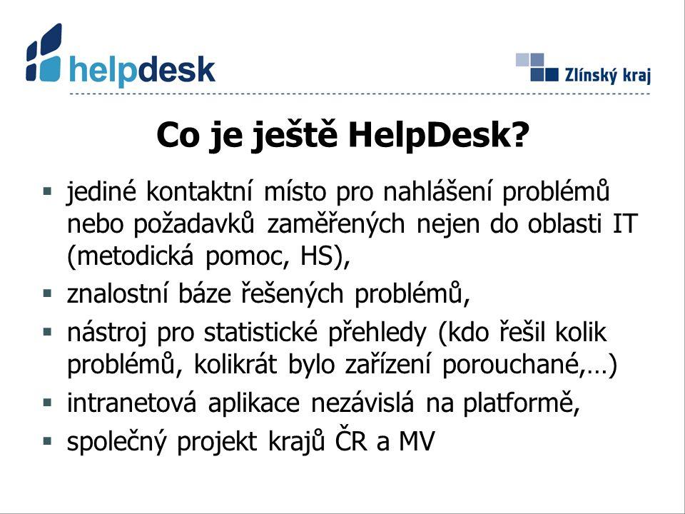 Co je ještě HelpDesk.