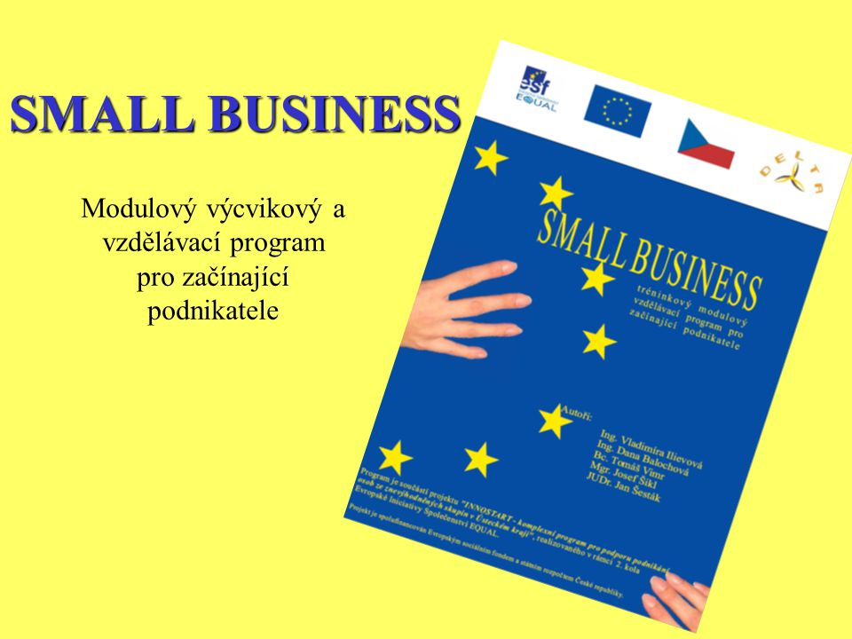 SMALL BUSINESS Modulový výcvikový a vzdělávací program pro začínající podnikatele