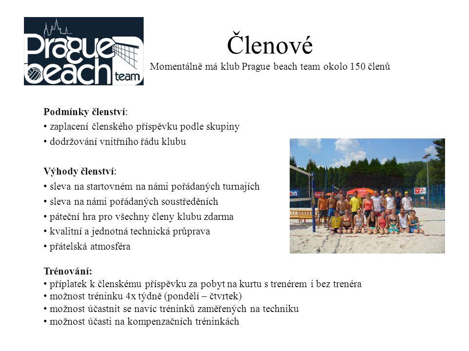 Členové Momentálně má klub Prague beach team okolo 150 členů Momentáln ě má Praguebeachteam 114 č len ů, toto č íslo se však n ě kdy i ka ž dým týdnem m ě ní.
