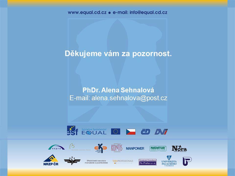 Děkujeme vám za pozornost. PhDr. Alena Sehnalová E-mail: alena.sehnalova@post.cz
