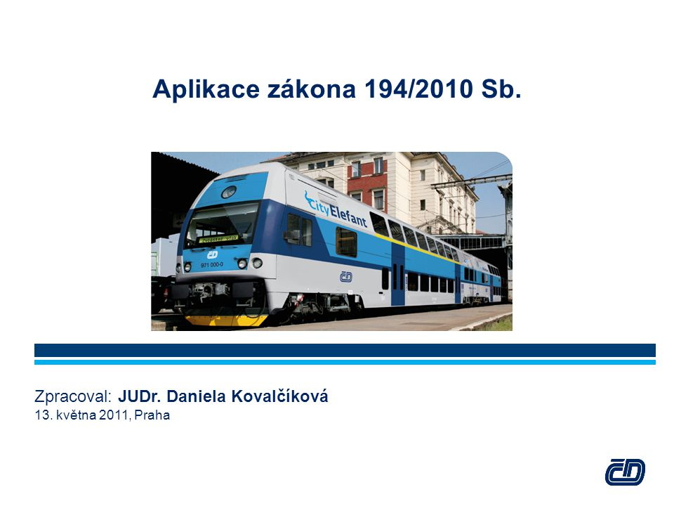  Ministerstvo dopravy má ze zákona povinnost každý rok při přípravě státního rozpočtu na následující rozpočtový rok posoudit ekonomické zajištění dopravní obslužnosti podle uzavřených smluv o veřejných službách v přepravě cestujících s dopravci na tento rozpočtový rok.