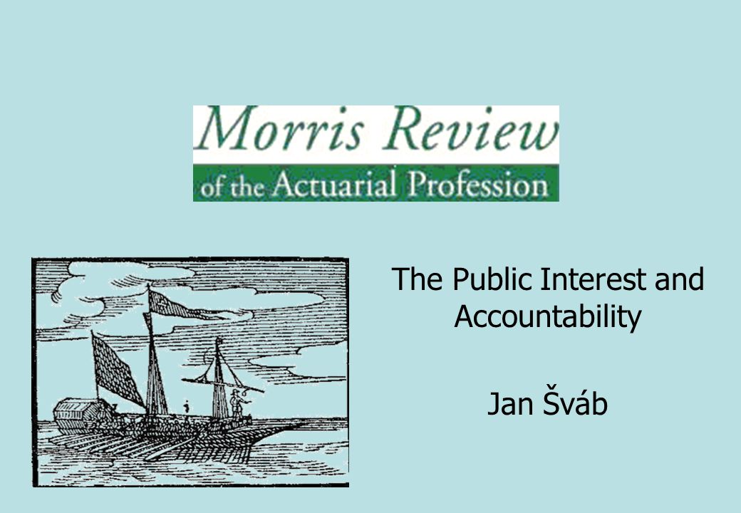 The Public Interest and Accountability Jan Šváb