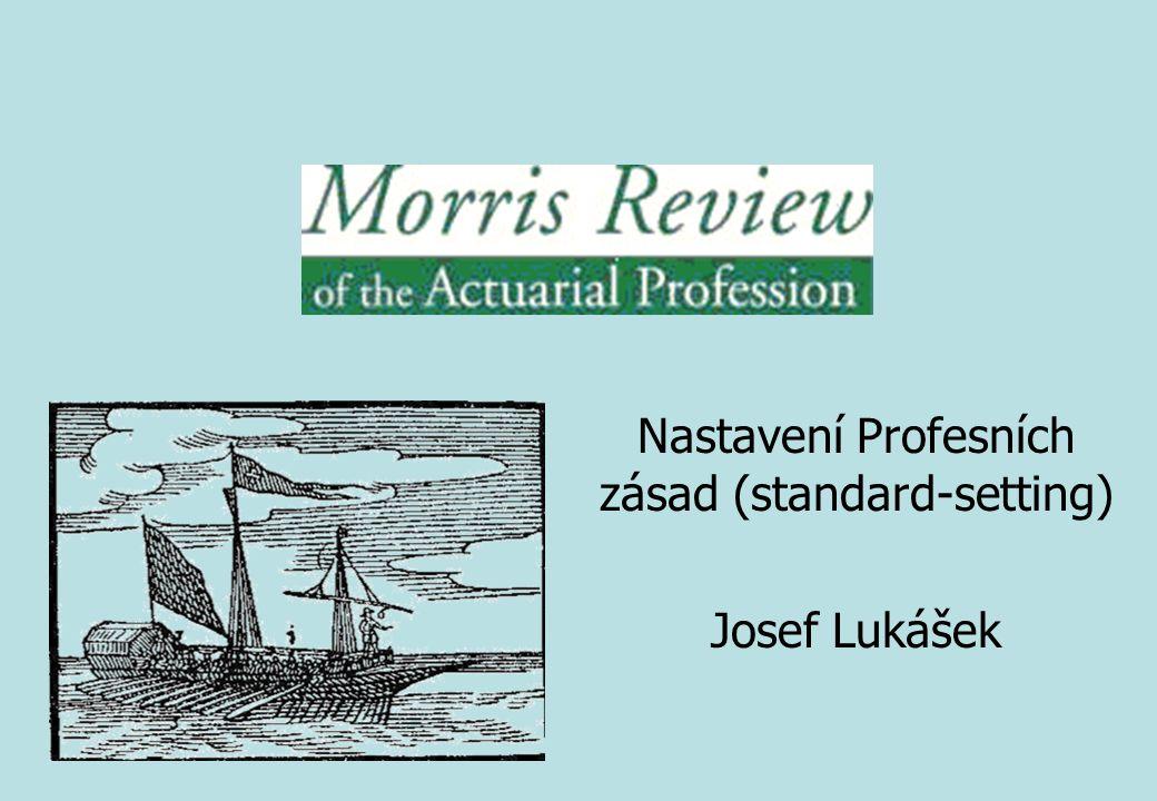Nastavení Profesních zásad (standard-setting) Josef Lukášek