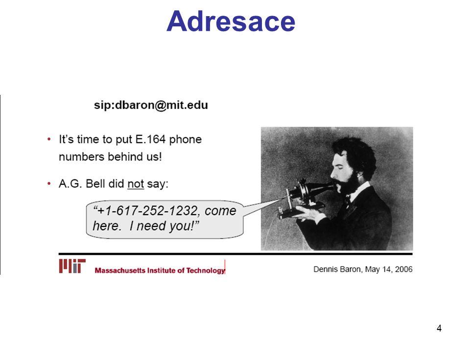 25 Content type, Length INVITE sip:bob@biloxi.com SIP/2.0 Via: SIP/2.0/UDP pc33.atlanta.com:5060;branch=z9hG4bK776asdhds To: Bob From: Alice ;tag=1928301774 Call-ID: a84b4c76e66710 CSeq: 314159 INVITE Contact: Content-Type: application/sdp Content-Length: 142 Content-Type – jaký je obsah (SDP) Content-Length – jaká je velikost obsahu (bytes), 0 znamená bez obsahuje