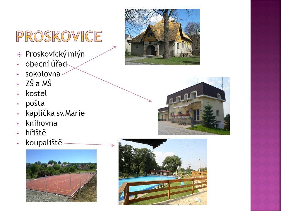 Proskovice leží v Moravskoslezském kraji, cca 15 km na jihozápad od Ostravy Patří mezi městské obvody statutárního města Ostravy Proskovice mají 1228 obyvatel Poblíž se nachází chráněná krajinná oblast Poodří Začíná zde Proskovická naučná stezka