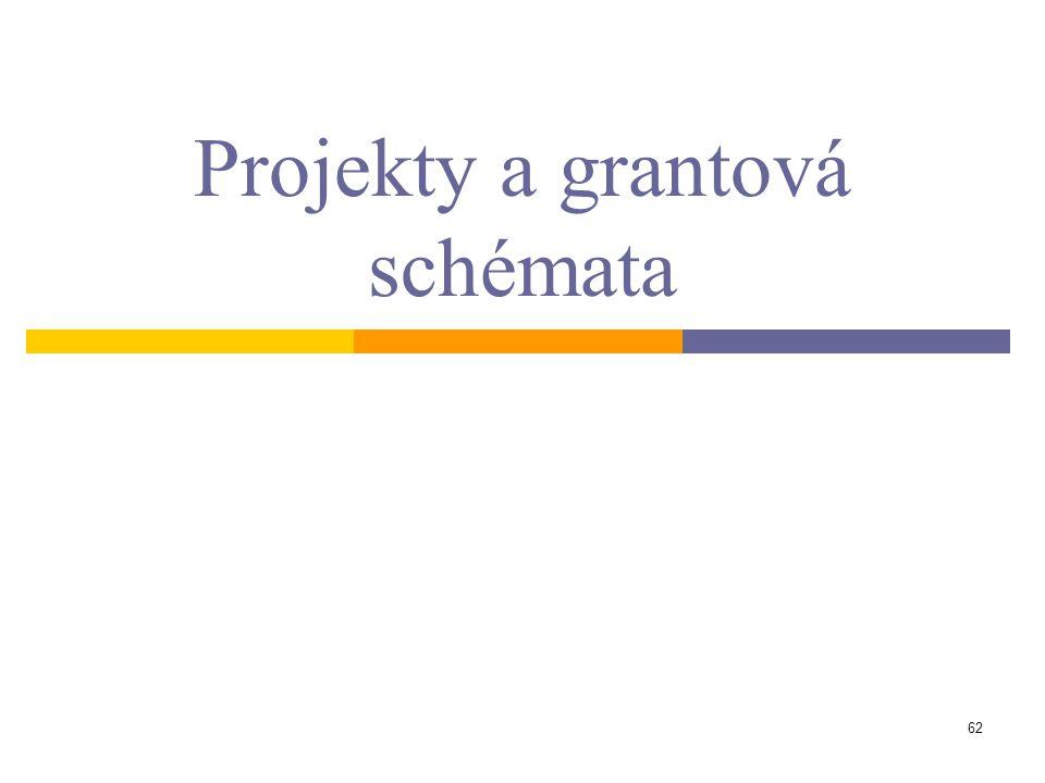 62 Projekty a grantová schémata