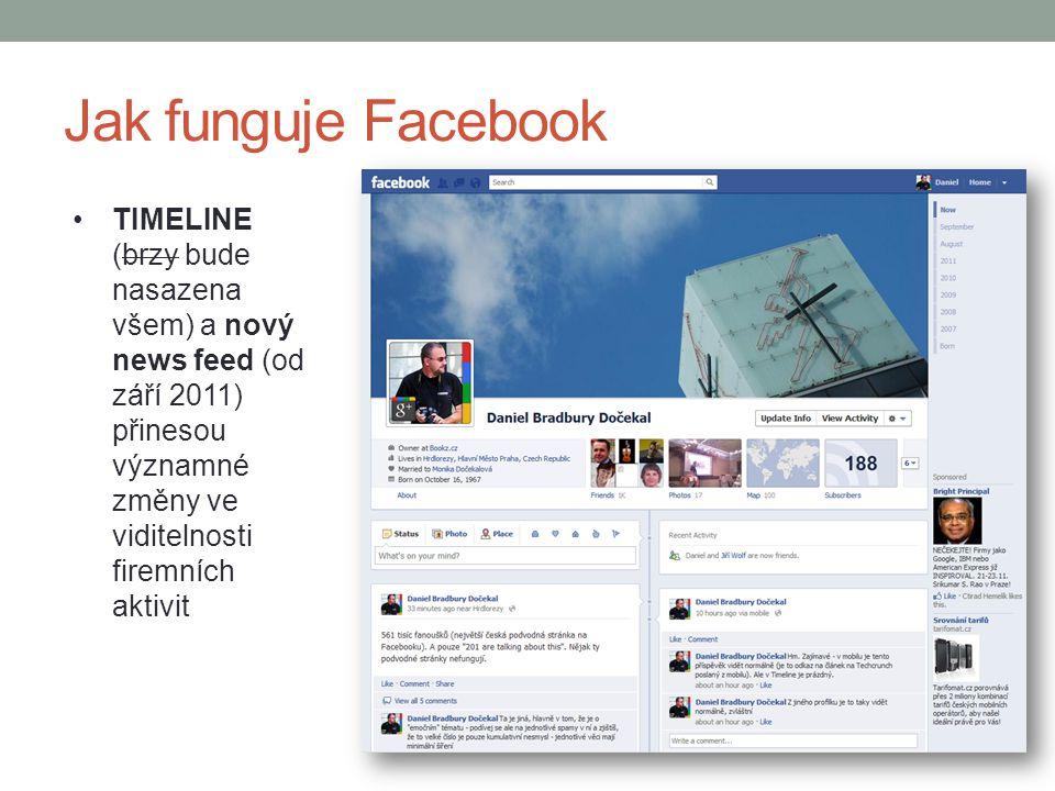 Jak funguje Facebook TIMELINE (brzy bude nasazena všem) a nový news feed (od září 2011) přinesou významné změny ve viditelnosti firemních aktivit