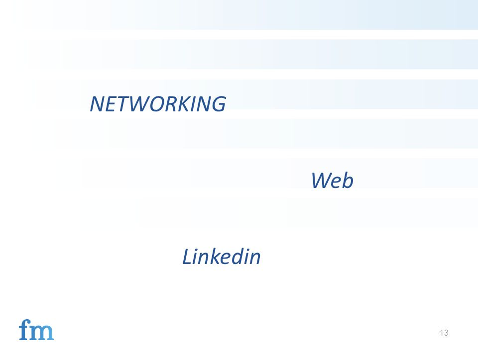13 NETWORKING Web Linkedin