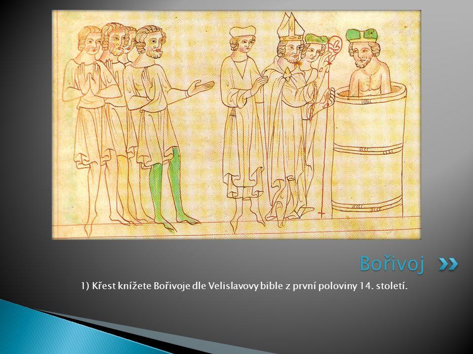 8) Freska Vratislava II. ze znojemské rotundy svaté Kateřiny. Vratislav II.