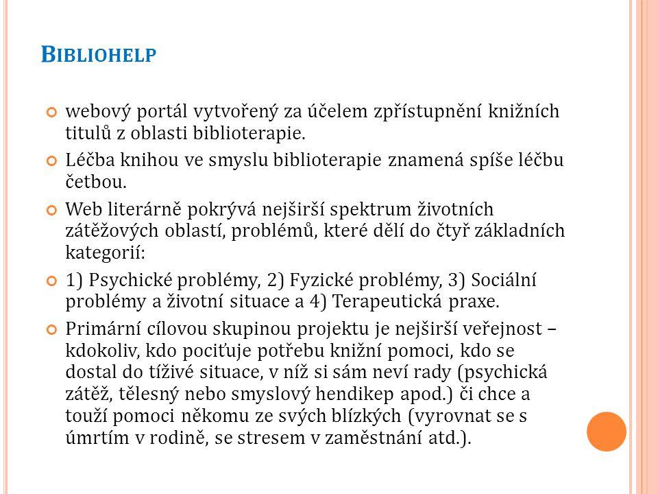 Č TESYRÁD Cílem projektu Čte(Sy)Rád je vytvoření online dostupné elektronické databáze na doporučování čtivých knih.