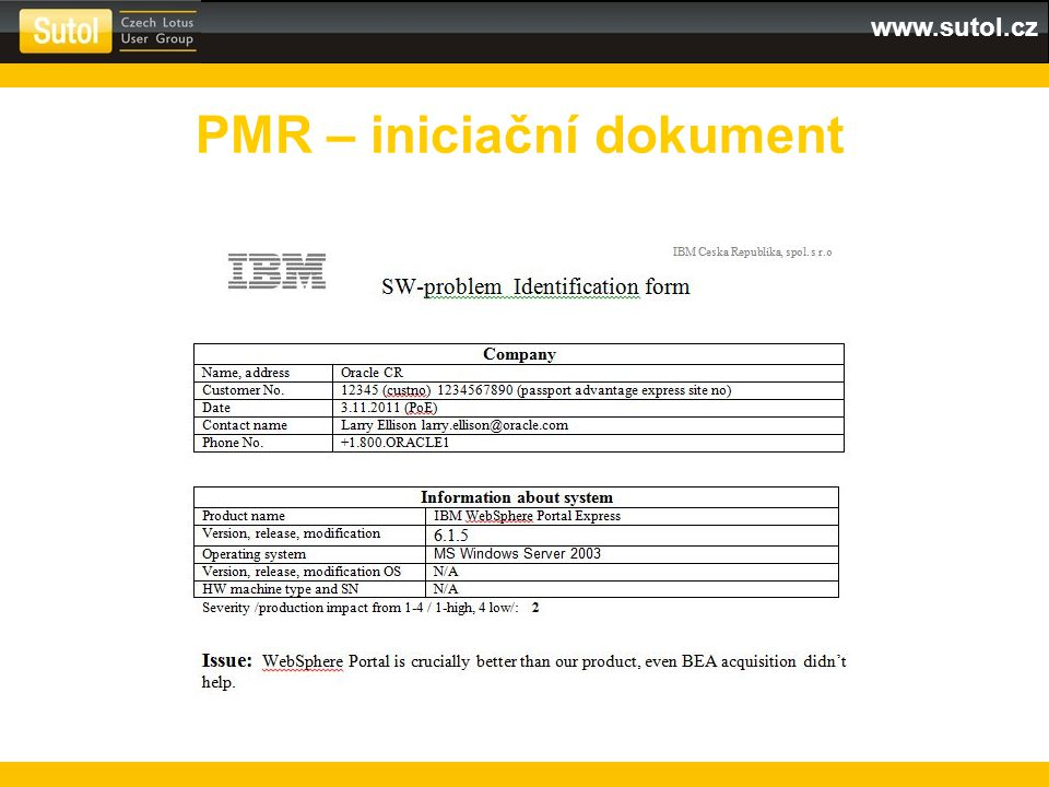 www.sutol.cz PMR – iniciační dokument