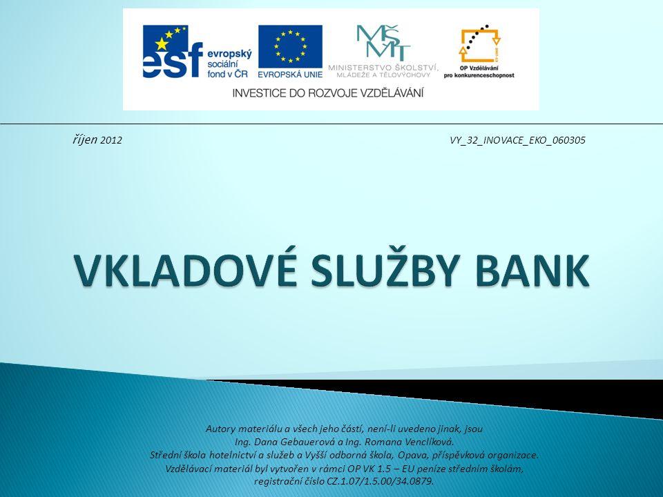 shromaždují vklady domácnosti, firem a jiných institucí ze zákona jsou všechny vklady pojištěny pro tyto účely byl zřízen Fond pojištění vkladů Fond pojištění vkladů je PO banky jsou povinny přispívat do fondu v závislosti na výši objemu vkladu náhrada oprávněné osobě se poskytuje ve výši 100 000 EUR