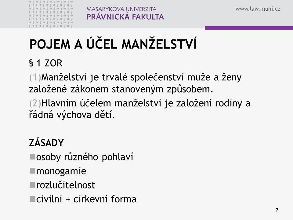 www.law.muni.cz PŘÍJMENÍ ŽEN § 69 zákona o matrikách, jménu a příjmení (1) Příjmení žen se tvoří v souladu s pravidly české mluvnice.