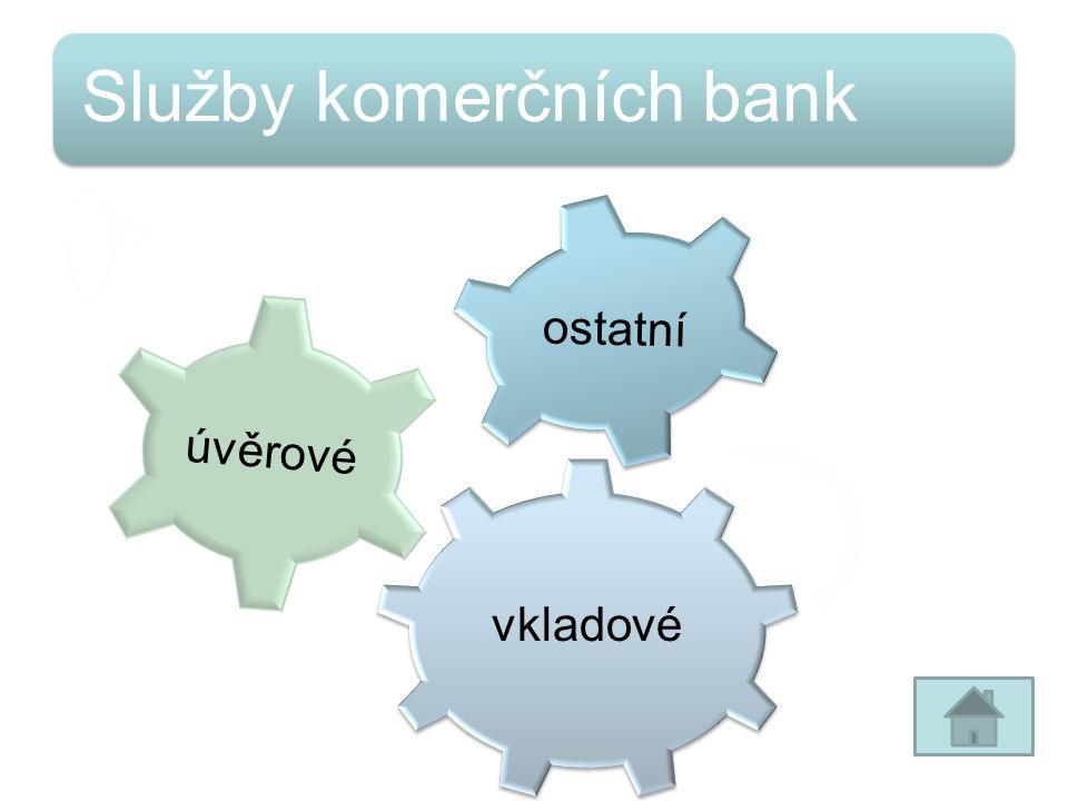 Služby komerčních bank vkladové úvěrové ostatní