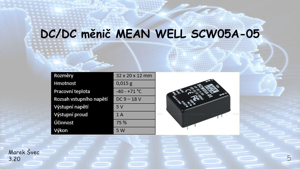 DC/DC měnič MEAN WELL SCW05A-05 Marek Švec 3.20 5