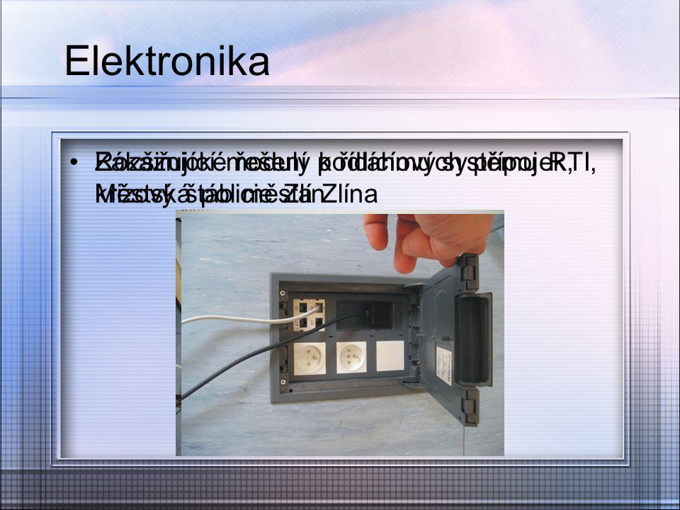 Elektronika Rozšiřující moduly k řídícímu systému RTI, Městská policie Zlín Zákaznické řešení podlahových přípojek, krizový štáb města Zlína