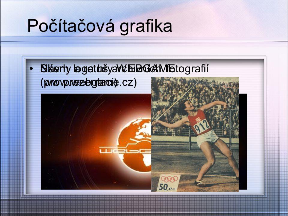 Počítačová grafika Návrh loga hry WEBGAME (www.webgame.cz) Skeny a retuš archivních fotografií (pro prezentaci)