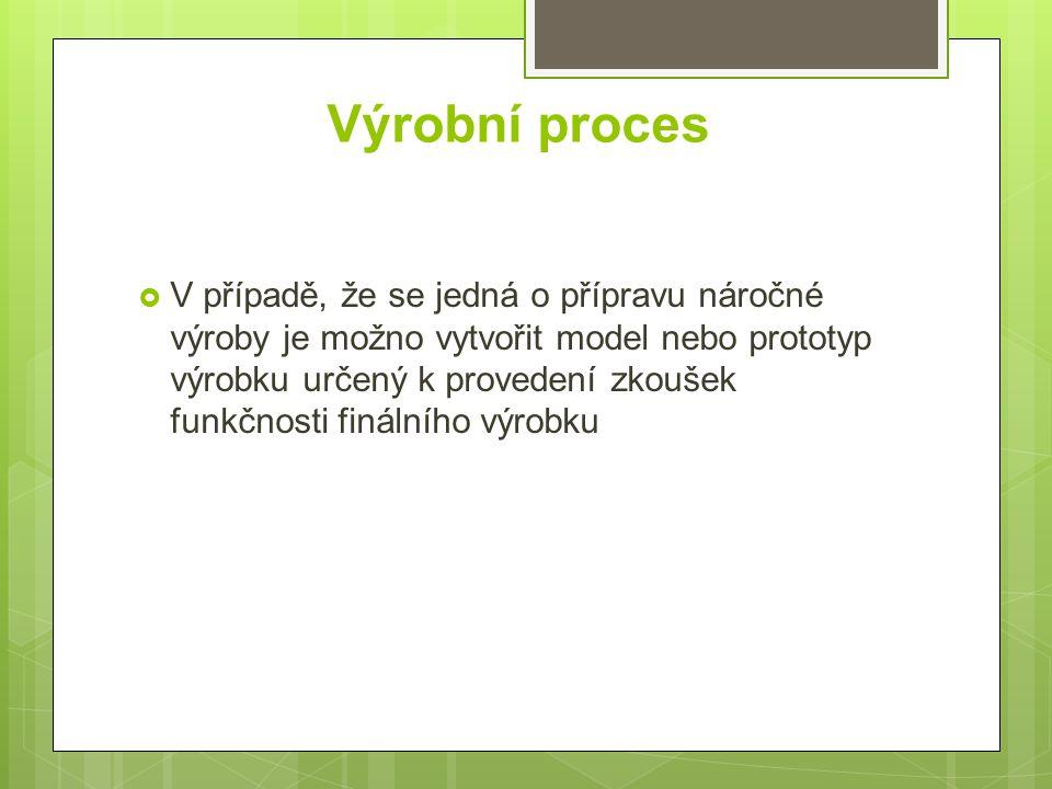 Výrobní proces Příprava výroby Vlastní výroba Dokončení výroby